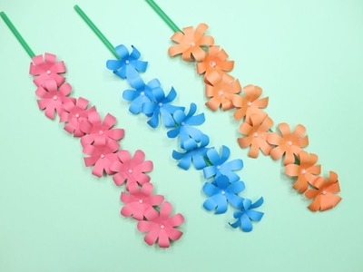 How to Make Paper Sticks Flowers   Flower Making at Home   How to Make Flower Sticks