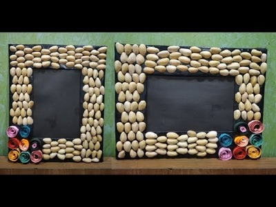 How to make photo frame with Pista shells||home decoration ||Easy crafts.