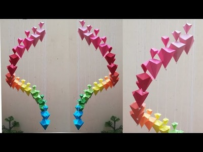 How to make wind chimes out of paper - Make Wall Hanging using paper - Paper craft easy-Malayalam