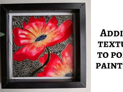 How to transform a simple design into gorgeous wall decor | glass painting technique|poppy painting