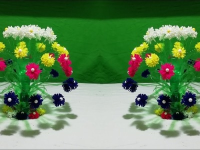 Make Wonderful Guldasta from plastic bottle || How to make Beautiful flower with plastic bottle