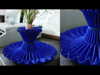Making Paper Flower Vase_How to Make A Flower Vase At Home_Simple Paper Craft_- Malayalam