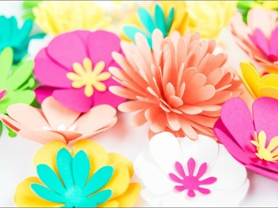 Mini Paper Flower Templates and Tutorial