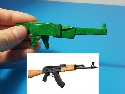 Nghệ Thuật ORIGAMI - How to make paper AK47 || Origami art AK47 Gun With Paper