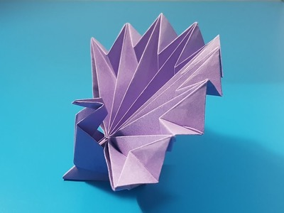 Origami art - Gấp Con Công || How To Make A Paper Peacock