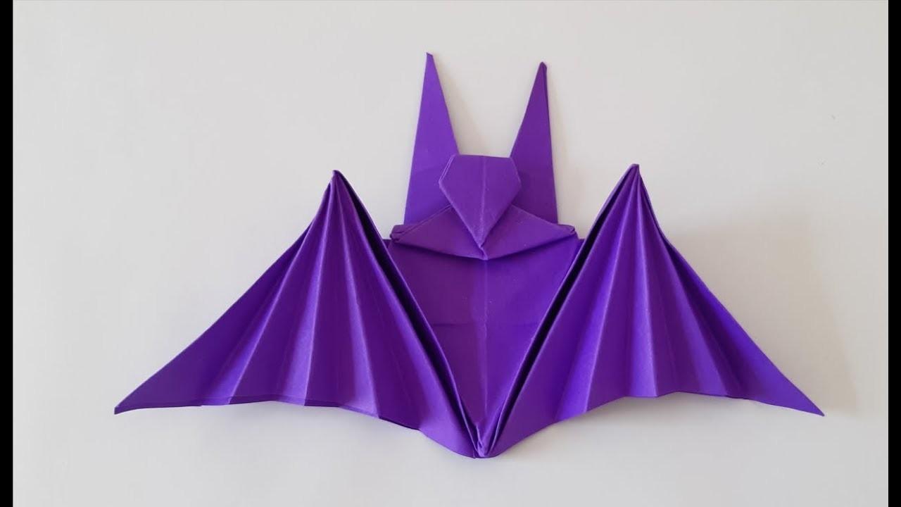 Origami Paper Art -How to Make a Bat ???? Como Fazer um Morcego (All Paper Art)