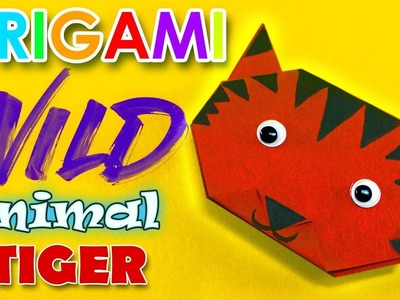 Origami Tiger - Easy origami Wild animals - Paper craft for kids