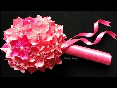 Paper flower bouquet - how to make paper flower bouquet