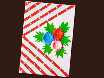 Paper Greeting Card   How To Make Beautiful & Simple Paper Greeting Card At Home