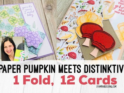 Paper Pumpkin + Distinktive Stamps (1 Simple Fold 12 cards)