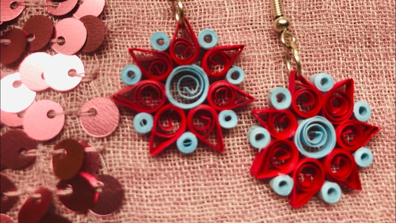 Paper quilling earrings | DIY | Easy to follow step by step procedure
