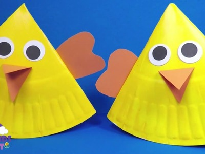 Rocking Paper Plate Chick | Easter Crafts for Kids
