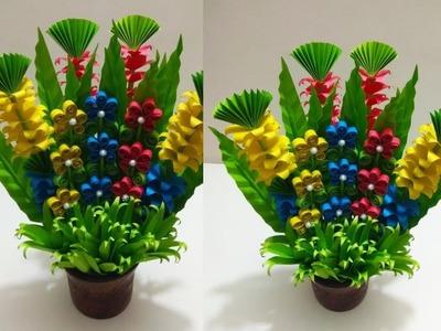 Room Decoration Idea.Make Paper Flower Bouquet.Handmade Floral Flower Bouquet.wedding Flower Bouquet