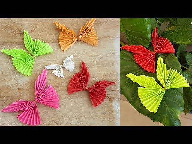 Very Simple And Easy Paper Butterfly\\ DIY Paper Butterfly