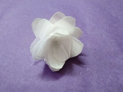 White rose making | canvas paper | crafts | kids | project | school project | DIY | sweety trendzzz