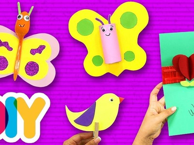 4 Amazing SPRING CRAFTS for toddlers ???? Fast-n-Easy ???? DIY Arts & Crafts for Kids