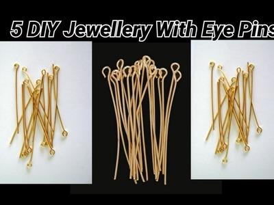 5 DIY ideas of jewellery with eye pins