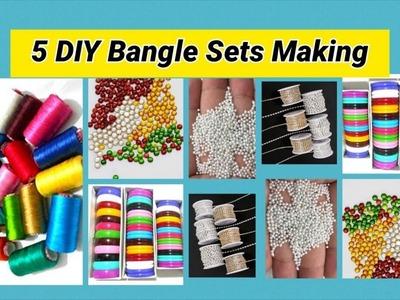 5 DIY party wear Bangle Sets making at home