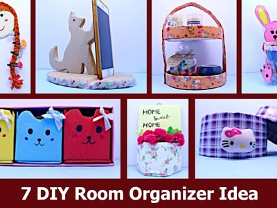 7 Useful DIY Room Organizer Ideas || DIY  Cardboard Box Projects  by Aloha Crafts