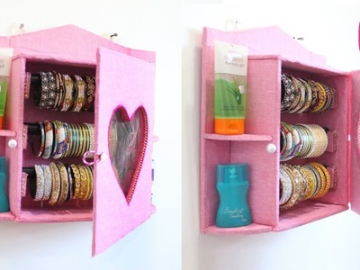 BANGLES STORAGE Idea with Out of CARDBOARD - DIY ORGANIZER CRAFTS