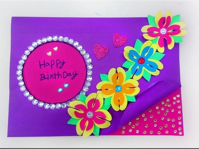Beautiful Happy Birthday Greeting card idea. DIY Greeting Pop up Cards for Birthday.