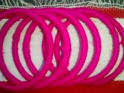 Best out of waste bangles || DIY woolen bangles || Woolen crafts || Reuse old bangles at home||DIY.