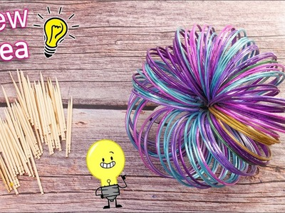 Best out of waste Bangles & Toothpick crafts idea | DIY Home Decor | Artkala