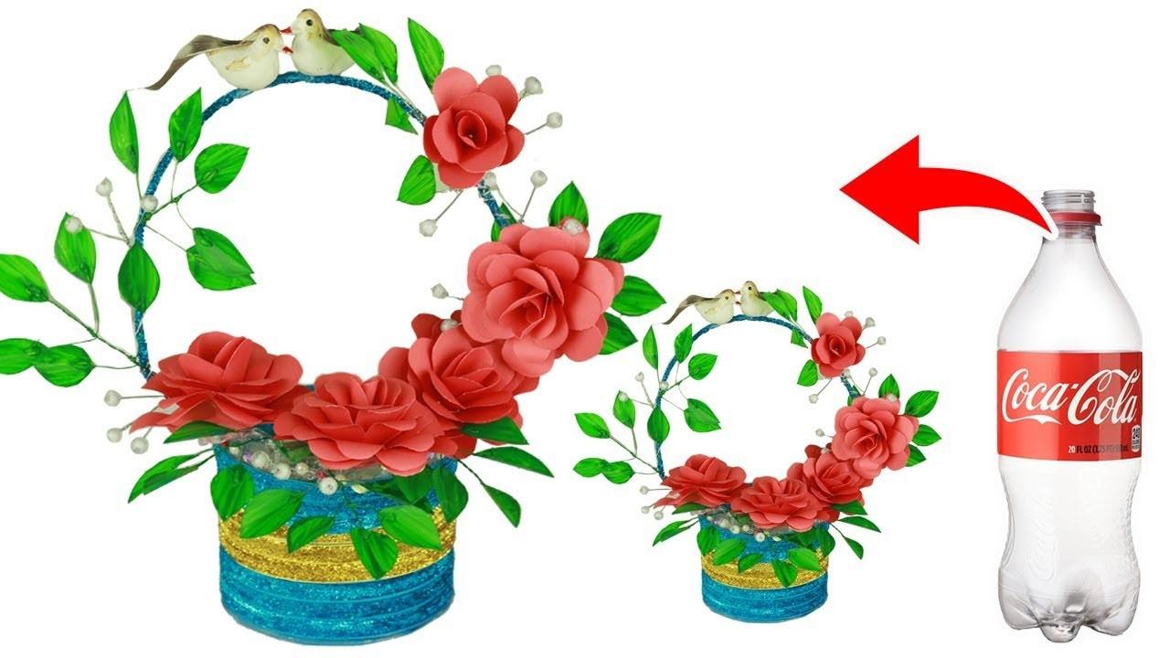 Best Out of Waste Plastic Bottle Basket DIY |Making Beautiful flower basket |Plastic bottle Basket