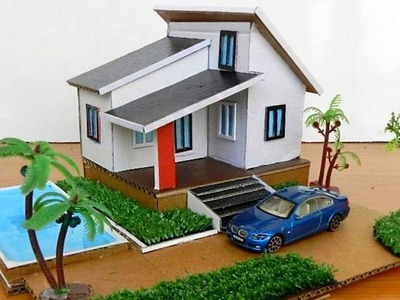 Building A Beautiful Villa House with Swimming Pool From Cardboard #85 | DIY Crafts Ideas