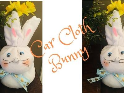 Car Cloth Bunny DIY Dollar Tree