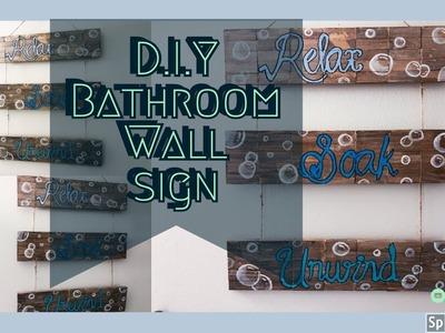 D.I.Y Bathroom Wall Sign using mostly Dollar Tree items | Farmhouse chic | Simply  D.I.Y