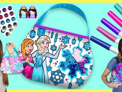 Disney Frozen 2 DIY Coloring Purse! Marker Challenge!