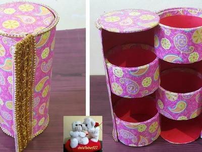 DIY#100 Multi-Purpose Organizer Using Recycled Tape Rolls Style #3 My Own Idea