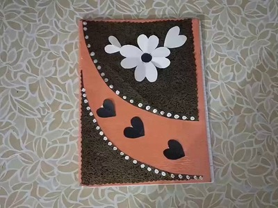 Diy 2 Notebook Cover Design.How to Decorate Notebook cover.Notebook decoration ideas for school.