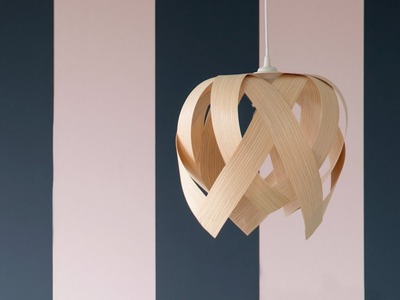 DIY : A unique lamp made of veneer  by Søstrene Grene
