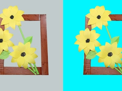 DIY Amazing Sunflower Wall Hanging | DIY Wall Handmade Wall Decor | Beautiful Sunflower Room Decor