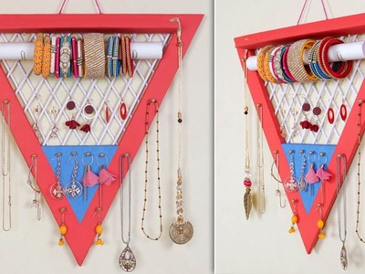 DIY Bangle , Earring & Necklace Holder Making at Home    DIY Room Organizer