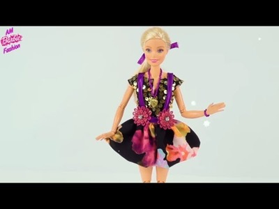 DIY Barbie Sundress & Jacket | Making Easy Clothes for Barbies Dolls Creative Fun for Kids