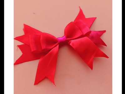 DIY Bow making | Make simple easy bow in 2 mins | easy  crafts DIYs????