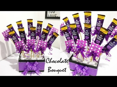 DIY Chocolate Bouquet    Cadbury Dairy Milk Bouquet    Easy Birthday Gift Idea