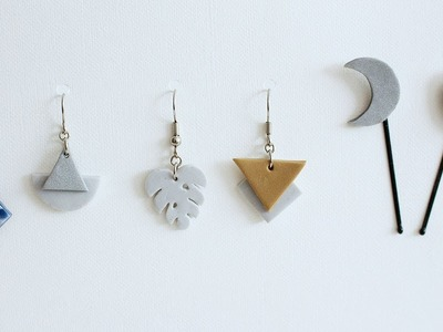 DIY Clay Jewelry and Hair Pins