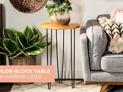 DIY Color-Block Table with Hairpin Legs | Hobby Lobby®