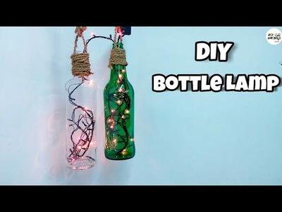 DIY DECORATIVE GLASS BOTTLE LAMP   Easy Home Decoration Ideas