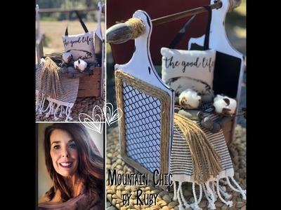 DIY Dollar.Tree FarmHouse Basket Mountain Chic by Ruby