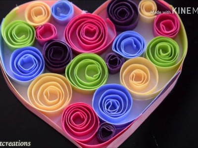 DIY Easy Quilling Heart. Handmade. Colourful