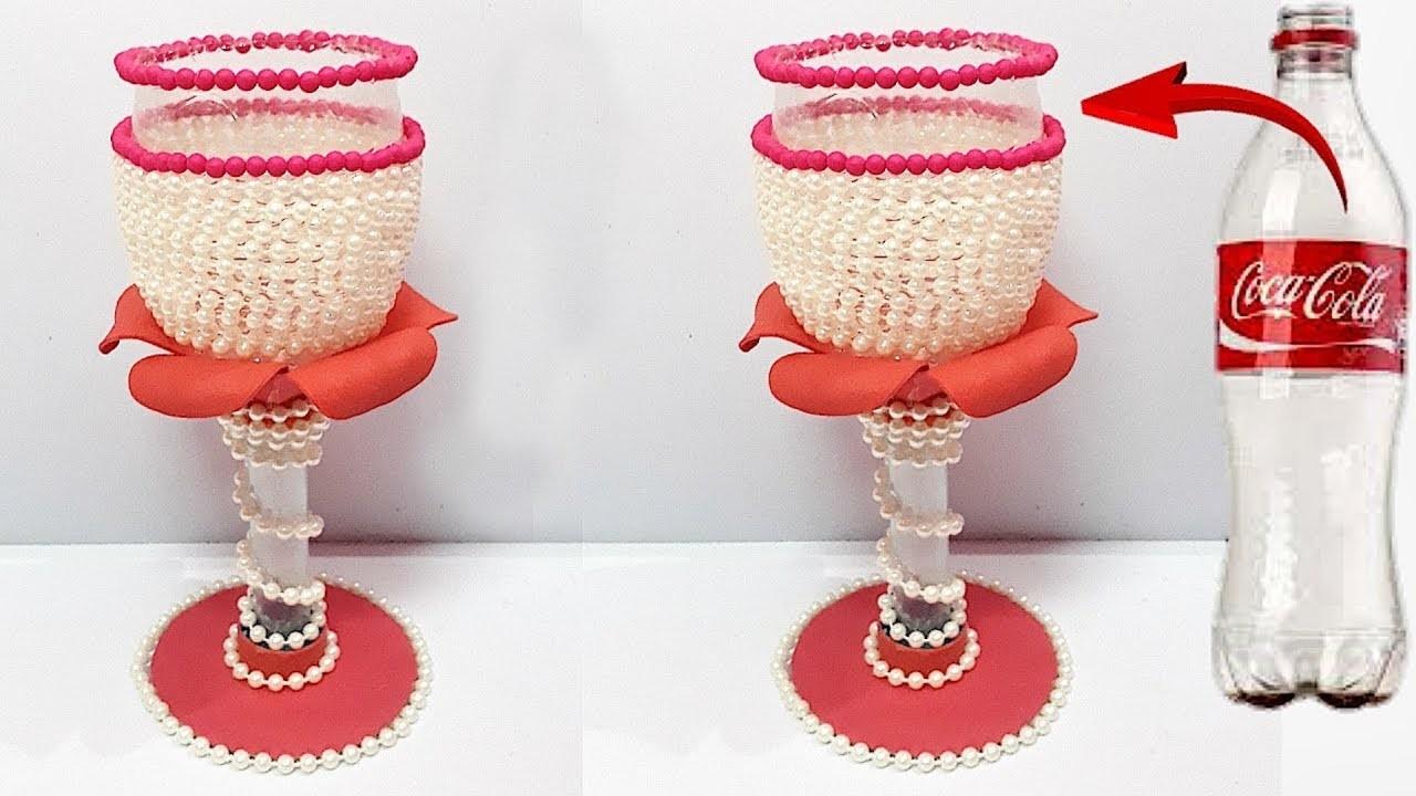 DIY Flower vase From plastic bottle   Best out of waste DIY Flower vase