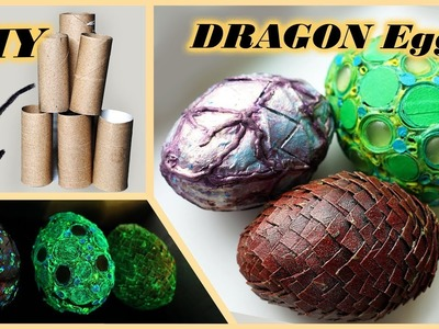 DIY glowing DRAGON eggs   Easter eggs with candies   glow in the dark crafts