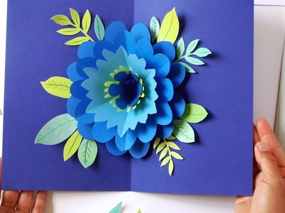 DIY Happy Mother's Day Card Pop Up Flower (Free Templates!)
