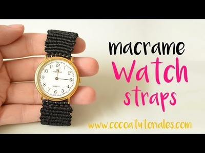 DIY How to make macrame straps for your old watch