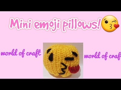 Diy loom knit Mini emoji pillow!????
